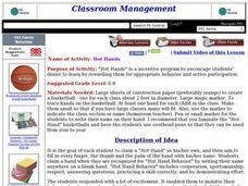 Hot Hands Lesson Plan