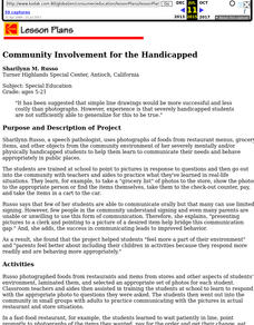 Community Involvement for the Handicapped Lesson Plan