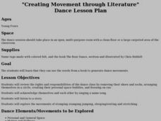 """Creating Movement through Literature"" Dance Lesson Plan Lesson Plan"