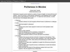 Politeness in Movies Lesson Plan