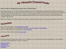 Mr. Pitonyak's Pyramid Puzzle Lesson Plan