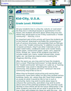 Kid City, USA Lesson Plan
