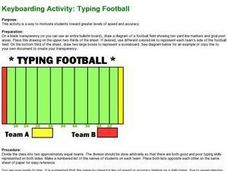 Keyboarding Activity: Typing Football Lesson Plan