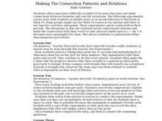 Making The Connection Patterns and Relations Lesson Plan
