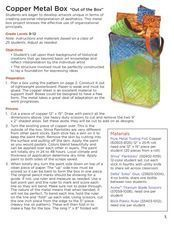 Copper Sheet Boxes: Artistic Engineering Lesson Plan