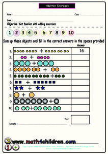 Addition Exercises 2 Worksheet