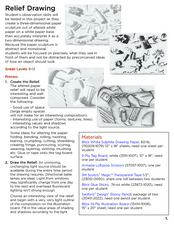 Relief Drawing Lesson Plan