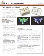Cast Handmade Paper Lesson Plan