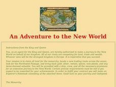 An Adventure to the New World Lesson Plan