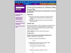 Levels of Government in California Online Lesson Plan