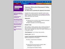 Japanese Relocation / Internment Lesson Plan