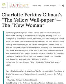 "Charlotte Perkins Gilman's ""The Yellow Wall-paper"" -- The ""New Woman"" Lesson Plan"
