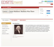 James Madison: Madison Was There Lesson Plan