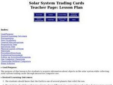 Solar System Trading Cards Lesson Plan
