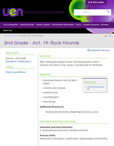 Geology: Rock Hounds Lesson Plan