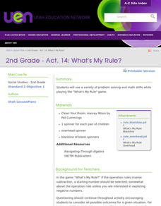 Math: What's My Rule? Lesson Plan