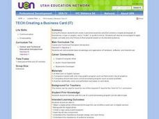 Creating a Business Card Lesson Plan