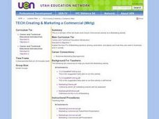 Creating and Marketing a Commercial Lesson Plan