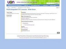 FACS:Integrated CTE Lessons - Slide Show Lesson Plan