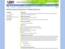 FACS:Economics Resources in a Paper Bag (Econ) Lesson Plan