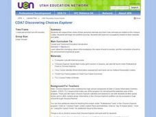 Discovering Choices Explorer Lesson Plan