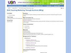 Teaching Marketing Through Auctioning Lesson Plan