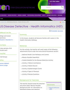 BUS:Disease Detective - Health Informatics (HST) Lesson Plan