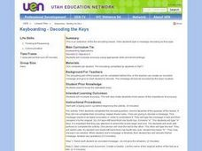 Keyboarding - Decoding the Keys Lesson Plan