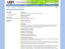 Preschool Activity Centers Lesson Plan