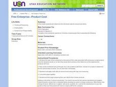 Free Enterprise--Product Cost Lesson Plan