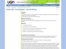 Anne Frank: Turning Pages - Journal Writing Lesson Plan