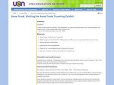 Anne Frank: Visiting the Anne Frank Traveling Exhibit Lesson Plan