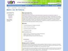 Math 6 - Act. 08: Patterns Lesson Plan