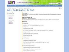 King Henry Did What? Lesson Plan