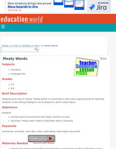Meaty Words Lesson Plan