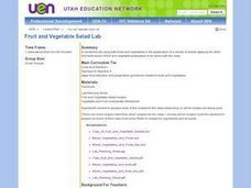 Fruit and Vegetable Salad Lab Lesson Plan