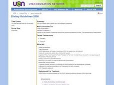 Dietary Guidelines 2000 Lesson Plan