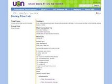 Dietary Fiber Lab Lesson Plan