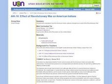 AIH-16: Effect of Revolutionary War on American Indians Lesson Plan
