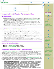 Topographic Map Lesson Plans & Worksheets | Lesson Planet on