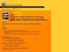 Conserving Electric Energy Lesson Plan