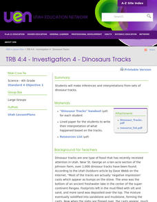 Investigation 4 - Dinosaurs Tracks Lesson Plan