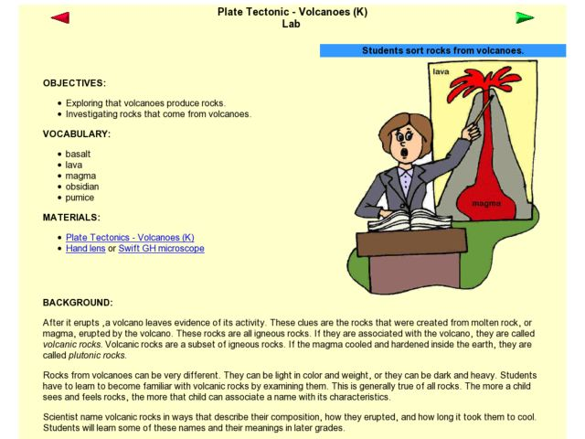 Plate Tectonic - Volcanoes Lab Lesson Plan