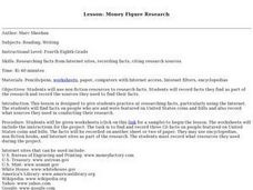 Money Figure Research Lesson Plan