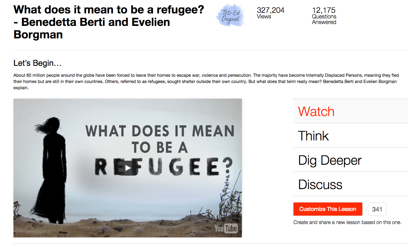 What Does It Mean to Be a Refugee? Video