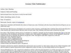 Coin Codebreaker Lesson Plan