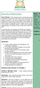 Marvelous Mathematics Lesson Plan