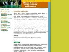 Ecosystems and Climate Lesson Plan