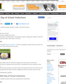 100th Day of School Collections Lesson Plan