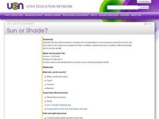Sun or Shade? Lesson Plan